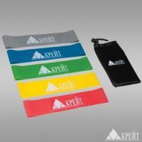 Резиновый эспандер для занятий йогой, функциональным тренингом, набор из 5 шт в сумочке