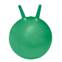 Гимнастический мяч детский попрыгун с рожками 55 см в коробке с насосом DMp 55